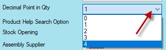configuring decimal point in quantity in Candela