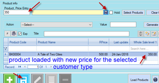 changing product price of a single product