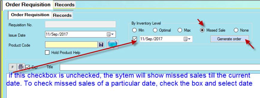 creating request against missed sales in Candela